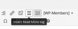 Screen Shot - Insert Read More tag
